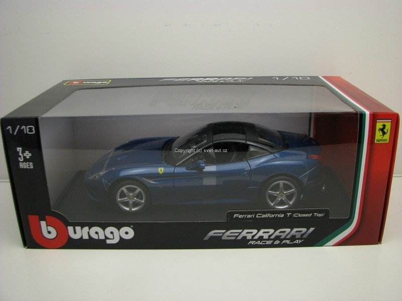 Ferrari California T Closed Top Blue 1:18 Bburago